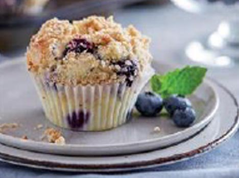Blueberry Lemon Streusel Muffins Recipe